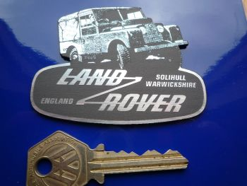 "Land Rover Defender & Logo Shaped Fridge Magnet. 3""."
