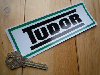 "Tudor Green Car Sticker. 6""."
