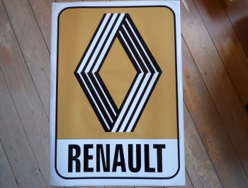 "Renault 1972 & on Mustard Logo & Text Sticker. 31""."
