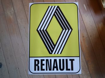 "Renault 1972 & on Yellow Logo & Text Sticker. 31""."