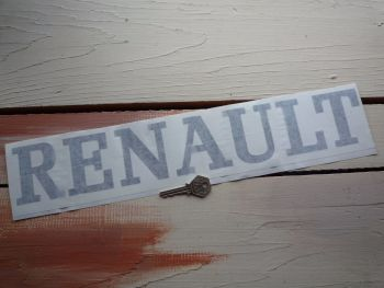 "Renault Cut Vinyl Text Sticker.  18""."