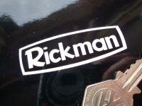 "Rickman White on Black Stickers. 2.5"", 5"" or 6"" Pair."