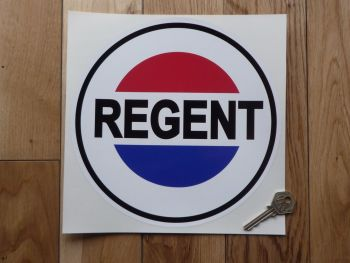 "Regent Petroleum Round Sticker. 12""."