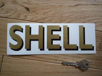 """Shell Shaded Style Cut Text Sticker. 16""""."""