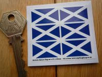 Scottish Saltire Flag Small Coloured Stickers. Set of 6. 25mm.