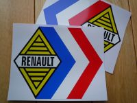 Renault Alpine Gordini Tricola White Middle Stickers. 12.5