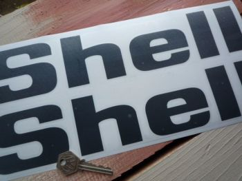 """Shell Cut Out Angular Text Stickers. 6"""", 8"""", 10"""", or 12"""" Pair."""