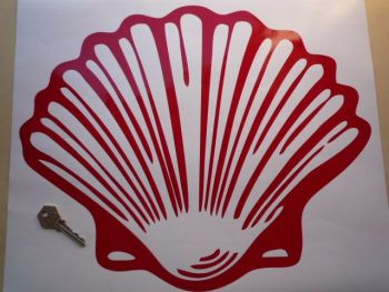 "Shell Old Vintage Cut Out Red Shell Sticker. 16""."
