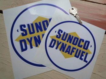 """Sunoco Dynafuel Circular Sticker. 12""""."""