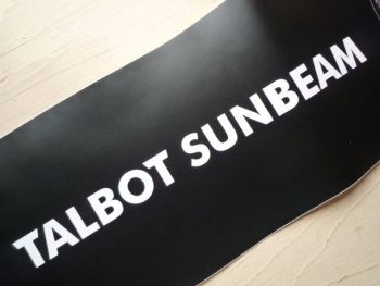 "Talbot Sunbeam Cut Vinyl Sticker. 31""."