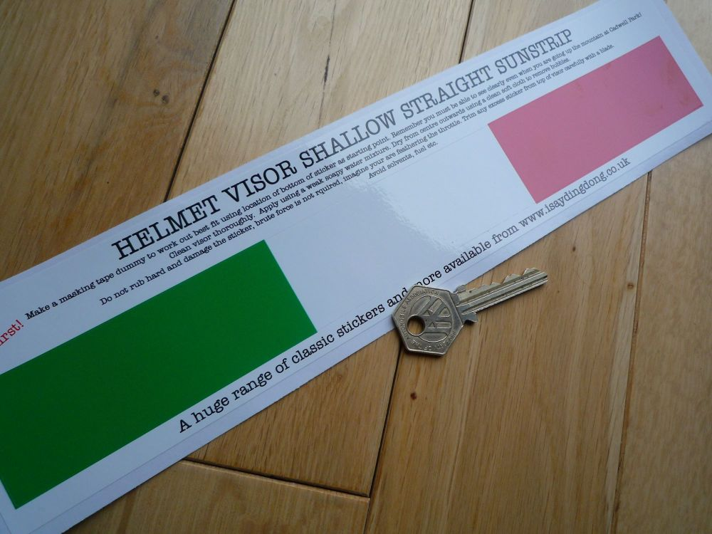 "Ireland Irish Helmet Visor Straight Sunstrip Sticker. 12"". 35mm or 50mm Tall."
