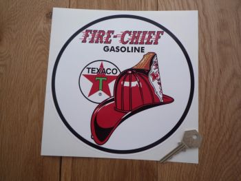 "Texaco Fire Chief Circular Sticker. 10"" or 12""."