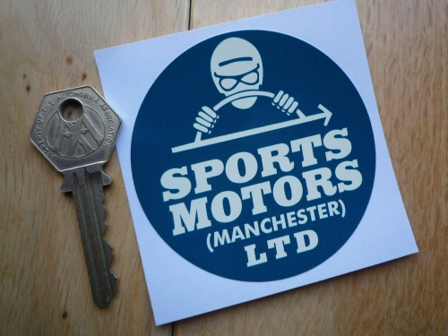 Sports motors ltd manchester old car dealer sticker 3