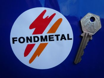 "Fondmetal Wheels Car Sticker. 3""."