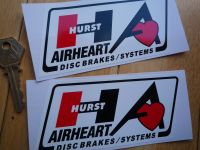Hurst Airheart Disc Brakes Systems Parallelogram Stickers. 5