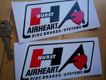 "Hurst Airheart Disc Brakes Systems Parallelogram Stickers. 5"" Pair."