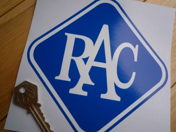 "RAC 60's 70's Style Blue & White Sticker. 6"" or 9""."