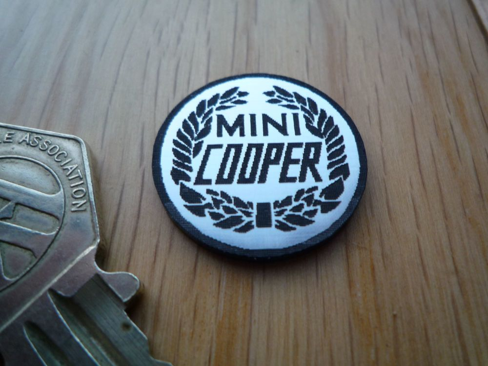 Mini Cooper Logo Style Self Adhesive Laser Car Badge 25mm