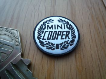Mini Cooper Logo Style Self Adhesive Laser Car Badge. 25mm.