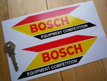 "Bosch Equipment Competition Arrow Head Style Stickers. 8"" or 13"" Pair."