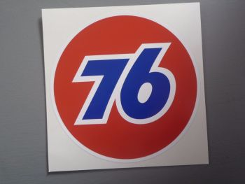 "Union 76 Circular '76' Red Sticker. 12""."