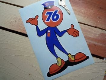 "Union 76 Cheeky Chappy Sticker. 15""."