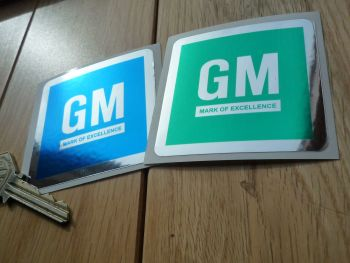 "General Motors GM Door Shut/Hood/Bonnet Slam Foil Sticker. 2.5""."