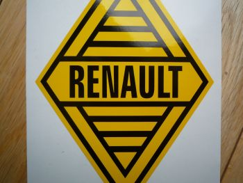 "Renault 1960's Yellow Logo & Text Sticker. 31""."