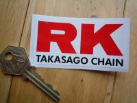 RK Takasago Chain Moto GP Sticker. 80mm or 120mm.