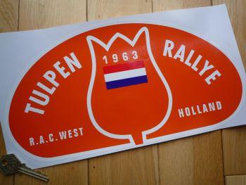 "Tulip Rally Tulpenrallye 1963 Orange Rally Plate Sticker. 12.5""."