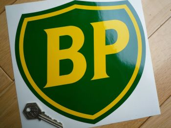 "BP Coachline Shield Sticker. 8"" ."
