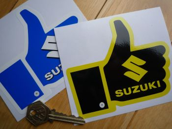 "Suzuki 'Thumbs Up' Sticker. 4.75""."