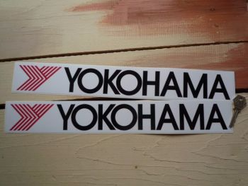 "Yokohama 'Y' Oblong Stickers. 16.5"" Pair."