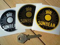Sunbeam Circular Sun Style Sticker. Various Colours. 2.5