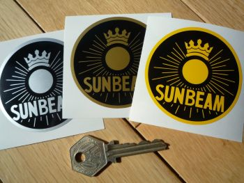 "Sunbeam Circular Sun Style Sticker. Various Colours. 2.5""."