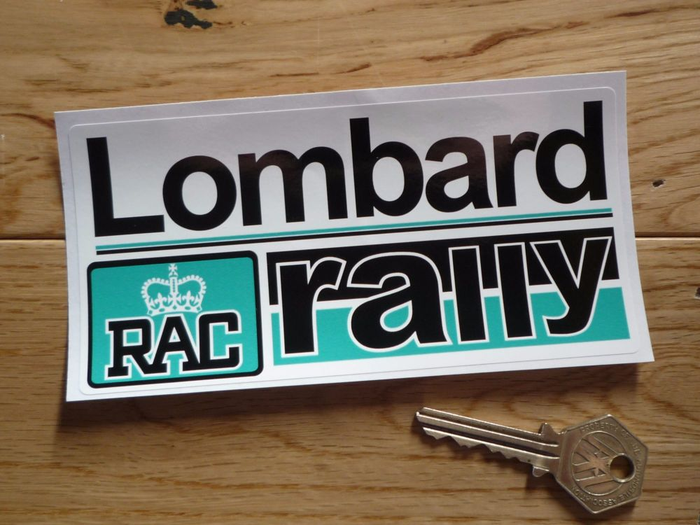 "Lombard RAC Rally Turquoise Blue Sticker. 15""."