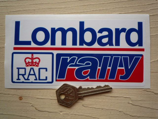 "Lombard RAC Rally Red & Blue Sticker. 15""."