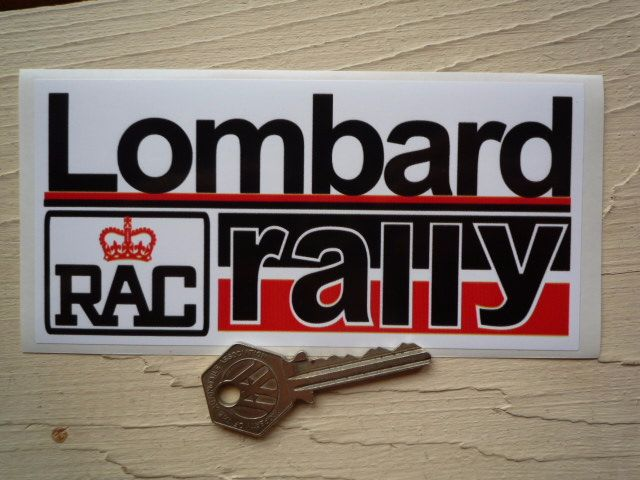 "Lombard RAC Rally Red & Black Sticker. 15""."