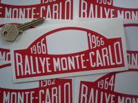 Monte-Carlo Rallye Rally Plate Stickers. 1961 - 1978. 16