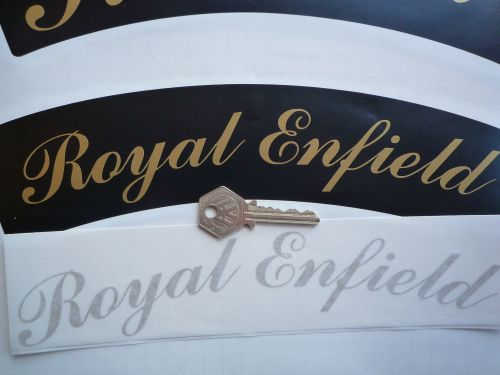 Royal Enfield curved Gold Cut Letters to fit front number plate.
