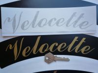 Velocette Curved Gold Cut Text Sticker for Motorcycle Front Number Plate. 10