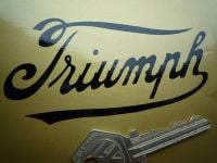 Triumph Cut Vinyl Traditional Script Sticker. Various Colours. 4