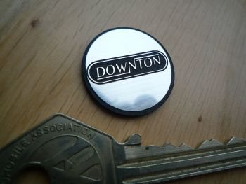 Downton Logo Style Self Adhesive Laser Car Gear Knob Badge. 25mm.