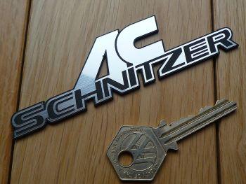 AC Schnitzer Logo Laser Cut Self Adhesive Car Badge. 115mm.