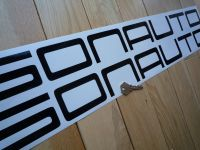 "Sonauto Cut Text Large Vinyl Sticker. 26"" or 30.5""."
