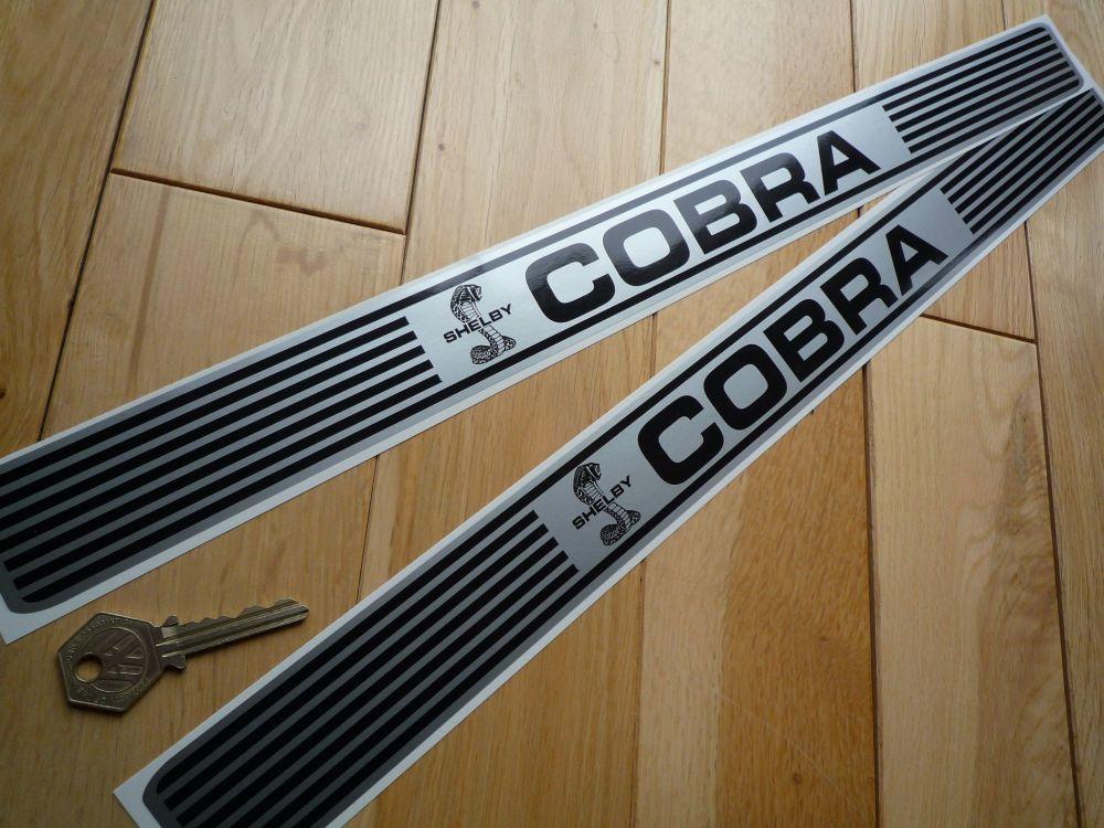 "AC Cobra Shelby Kickplate Sill Stickers. 20"" Pair."
