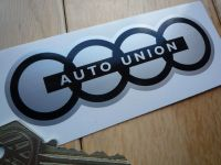 Auto Union Black & Silver Shaped Sticker. 110mm.