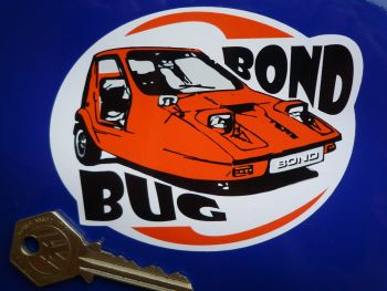 "Bond Bug Orange Style Sticker. 4""."