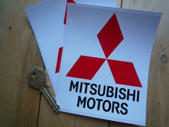 "Mitsubishi Motors Stickers. 5"" Pair."