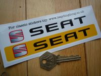 Seat Number Plate Dealer Logo Cover Stickers. 5.5